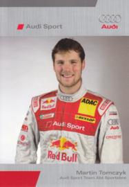 DTM racing driver Martin Tomczyk, unsigned postcard 2005 season, German language