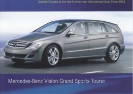 Mercedes-Benz Vision Grand Sports Tourer, A6-size postcard, NAIAS 2004