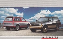 S-10 Blazer,  US postcard, large size, 19 x 11,75 cm, 1988