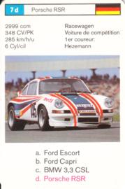 911 RSR - card 7b - size 10 x 6,5 cm, French language