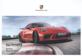 911 GT3 pricelist brochure, 76 pages, 09/2017, German