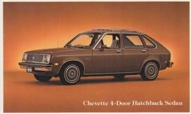 Chevette 4-Door Hatchback Sedan, US postcard, standard size, 1979