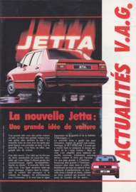 Jetta II brochure, 4 pages,  A4-size, French language, 1984