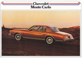 Monte Carlo Coupé 1979, 2 pages, export, Dutch language
