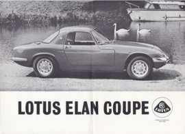 Elan Coupe brochure, 8 pages, DIN A4-size, c1966, factory-issued, English language