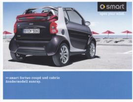 Fortwo Coupé/Cabrio Sunray brochure,  4 pages, 01/2005, German language