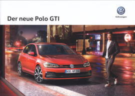 Polo GTI brochure, A4-size, 16 pages, 01/2018, German language