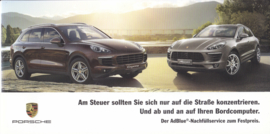 Cayenne & Macan Ad Blue refill brochure, 6 pages, 09/2014, German language