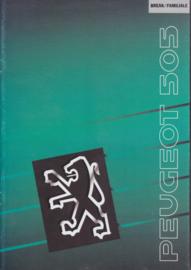 505 Break & Familiale brochure, 24 pages, A4-size, 1990, Dutch language
