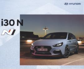 i30 N Hatchback brochure, 16 pages, 03/2018, German language
