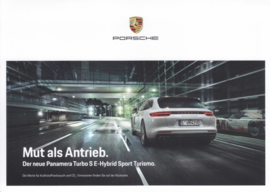 Panamera Turbo S E-Hybrid Sport Turismo brochure, 4 pages, 09/2017, German language
