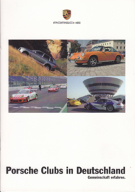 Porsche Clubs brochure, 12 pages + separate card, 12/2006, German