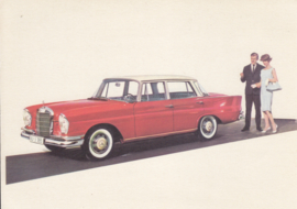 220 S Sedan, A6-size, German card with 4 languages, 1960