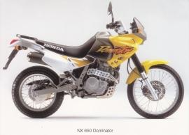 Honda NX Dominator postcard, 18 x 13 cm, no text on reverse, about 1994