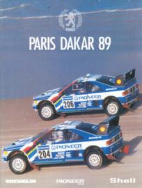 405 Turbo 16, Paris-Dakar brochure, 8 pages, A4-size, 1989, International