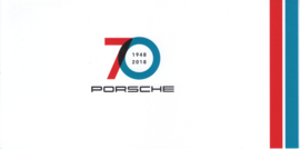 Your Statement - Porsche 70 years brochure, 4 small pages, 2018, German language