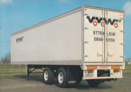 Trailer 2 axle plywood, DIN A6-size postcard, Dutch issue