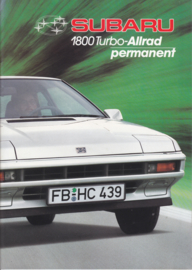 1800 Turbo Allrad program brochure, 28 pages, German language, 1987