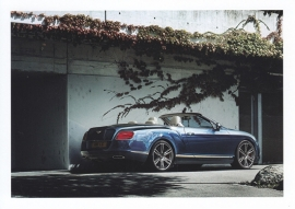 Continental GT V8 Convertible, A6-size postcard, about 2014, English