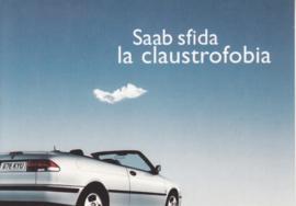 9-3 Aero Cabriolet postcard, A6-size, Citrus Promotion, Italian language, # 0663