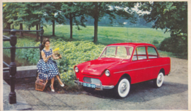 600 Sedan, standard size, factory issue, 5 languages, about 1958