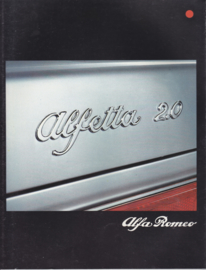 Alfetta 2000 L Sedan brochure, 28 pages, 06/1980, # 1101/D, German