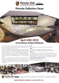 Collectors Swap Porsche Museum leaflet, 2 pages, 2010, German/English language