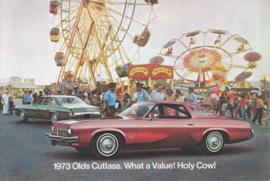 Cutlass 2/4-door models, postcard, USA, 1973