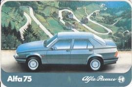 Alfa Romeo 75, sticker, 14 x 9 cm