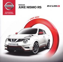 Juke Nismo RS brochure, 12 pages, 11/2014, German language