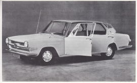1700 Sedan 4-Door, introduction card, empty back, about 1965, no text