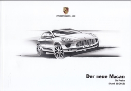 Macan pricelist, 76 pages, 11/2013, German