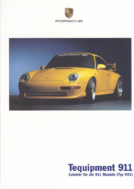 911 Tequipment (993) brochure, 24 pages, 08/2001, German