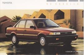 Corolla 4-Door LE Sedan, US postcard, 1989