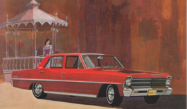 Chevy II Nova Sedan, US postcard, standard size, 1967