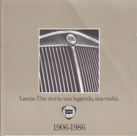 Lancia History brochure 1906-1986, 68 pages, 4/1986, Italian language