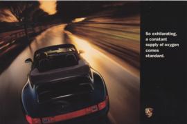 911 Carrera Convertible, large advertising card, US market, 1995, English