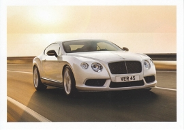 Continental GT V8 S, A6-size postcard, about 2014, English