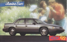 Lumina Euro Sedan, US postcard, standard size, 1993