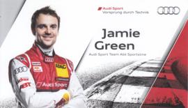 Racing driver Jamie Green, postcard 2013 season, English language