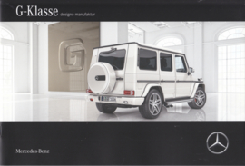 G-Klasse Designo Manufaktur brochure, 18 pages, A4-size, 01/2016, German language