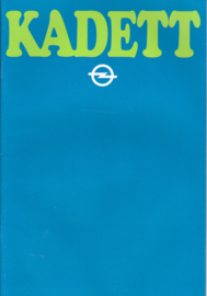 Kadett brochure, 28 pages +  specs., 1980, Dutch language (Flemish)