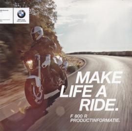 BMW F 800 R, sales brochure, 24 pages, UX-VB-1, 2016, Dutch language