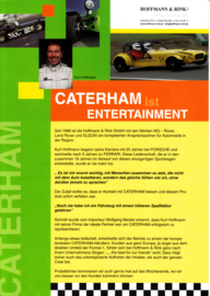 Caterham sportscar leaflet, 2 pages, about 2008, German language