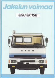 Sisu SK 150 brochure, 16 pages, A4-size, c1982, Finnish language