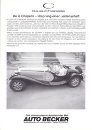 De la Chapelle Typ 55 Cabriolet leaflet, 2 page, about 1985, German language