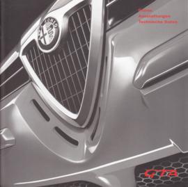 156 & Sportwagon GTA prices brochure, 20 square pages, 09/2002, German language