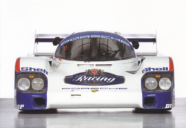 Porsche 956 1983, A6-size postcard, factory-museum issue, German