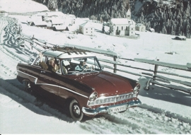 Taunus 17M 1957, A6-size postcard for 75 Years Ford Germany, 2000