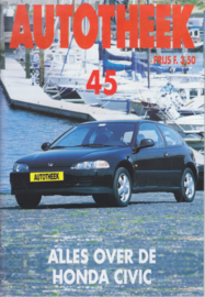 issue # 45, Honda Civic all models, 32 pages, najaar 1992, Dutch language